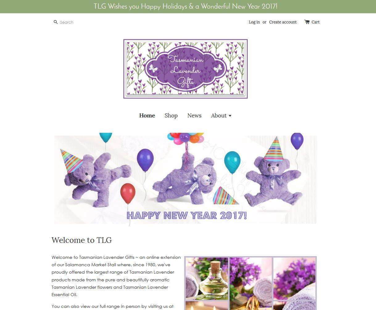 Tasmanian Lavender Gifts - website migration