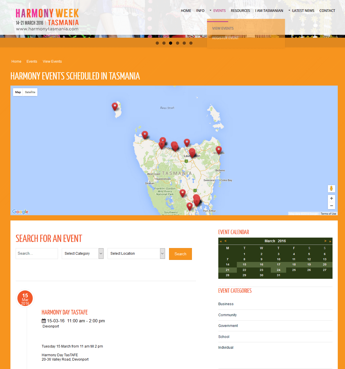 Harmony Tasmania - new interactive website