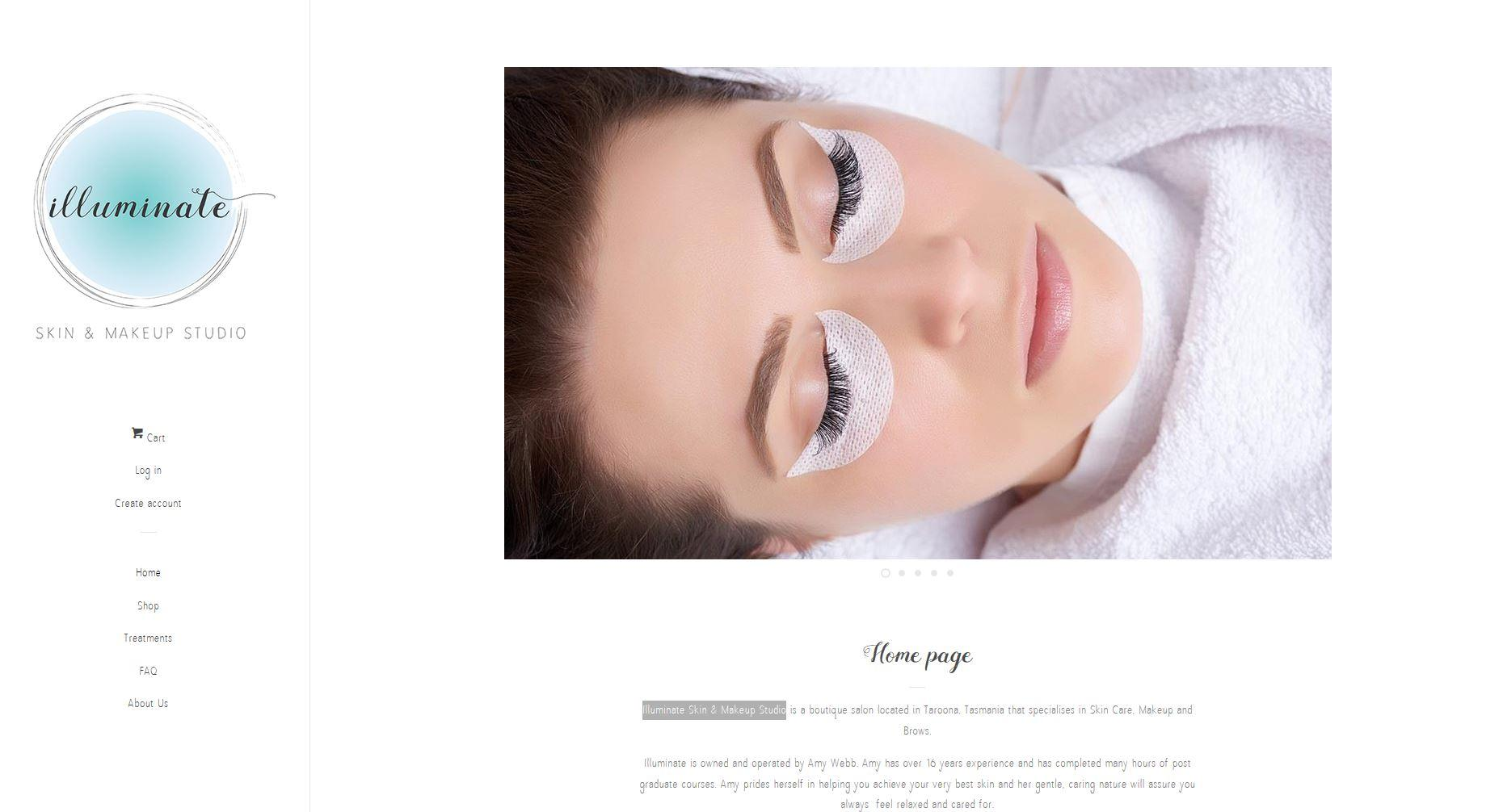 Illuminate Skin & Makeup Studio - new studio & new website